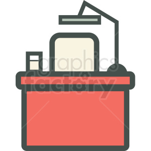 work desk icon clipart. Royalty-free image # 406188
