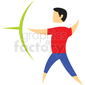 archery sport character icon clipart. Royalty-free image # 406216