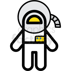 astronaut vector icon clipart. Royalty-free image # 406229