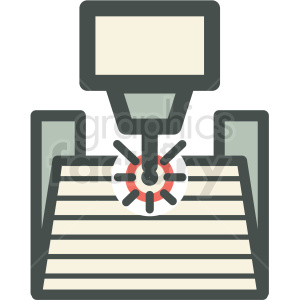 automated manufacturing icon clipart. Commercial use image # 406269
