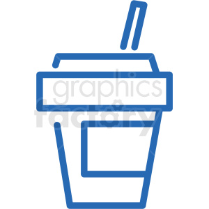 fast food soda cup vector icon clipart. Commercial use image # 406289