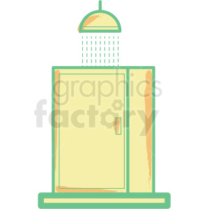 shower flat vector icon clipart. Commercial use image # 406316