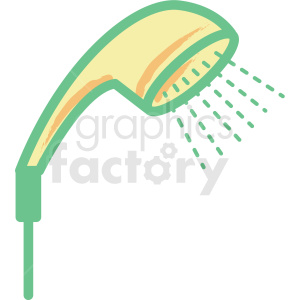 hand shower flat vector icon clipart. Commercial use image # 406321
