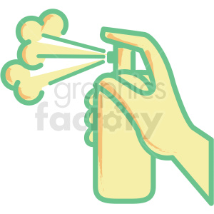 spray bottle flat vector icon