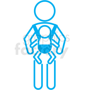 baby carrier icon clipart. Royalty-free image # 406348