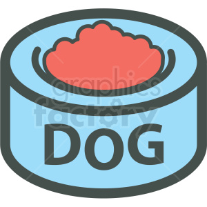 dog food bowl vector icon clipart. Commercial use image # 406389