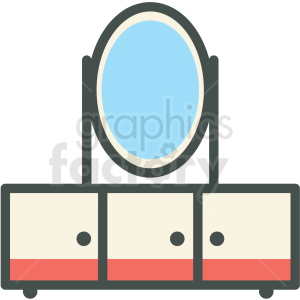 bedroom dresser vector icon
