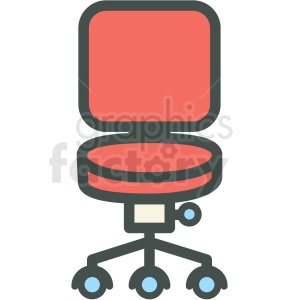 desk chair vector icon clipart. Royalty-free image # 406395
