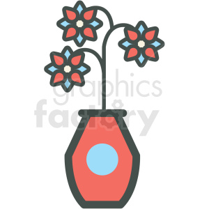 flower vase vector icon clipart. Commercial use icon # 406403