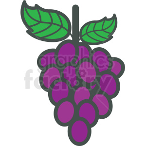 grapes vector icon clipart. Royalty-free image # 406427