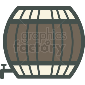 barrel of beer vector icon clipart. Royalty-free image # 406493