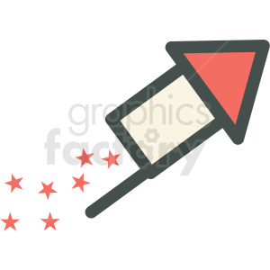 bottle rocket fireworks guy fawkes day vector icon image clipart. Royalty-free image # 406504