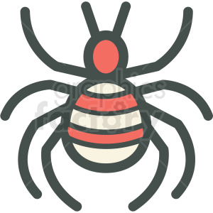 spider halloween vector icon image clipart. Royalty-free icon # 406532