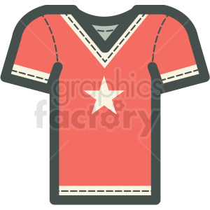rock n roll star jersey vector icon image clipart. Royalty-free icon # 406573