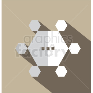graphene technology vector icon clip art clipart. Royalty-free image # 406624