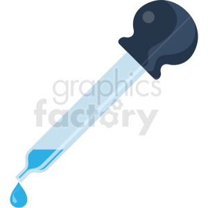 eye dropper vector flat icon clipart with no background clipart. Royalty-free icon # 406689