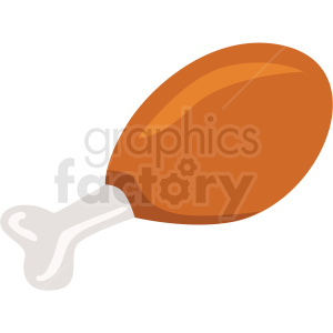 chicken leg vector flat icon clipart with no background clipart. Commercial use image # 406696