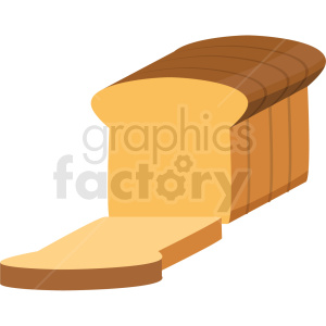 loaf of bread vector flat icon clipart with no background clipart. Royalty-free image # 406706