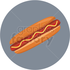 hotdog icon clipart with circle background clipart. Royalty-free image # 406709