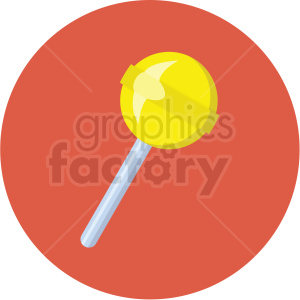 lollipop vector flat icon clipart with circle background clipart. Commercial use icon # 406727