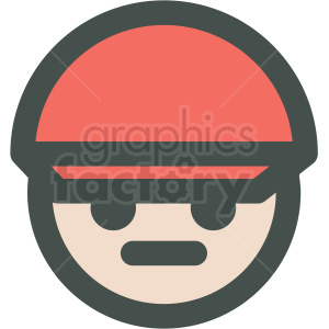 man wearing red hat avatar vector icons