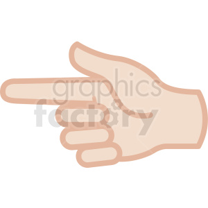 white hand pointing gesture vector icon clipart. Commercial use image # 406810