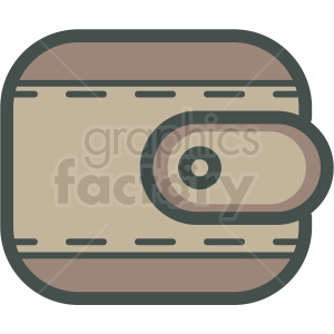 brown wallet vector icon clipart. Royalty-free image # 406858