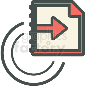 recycle information vector icon clipart. Commercial use image # 406864