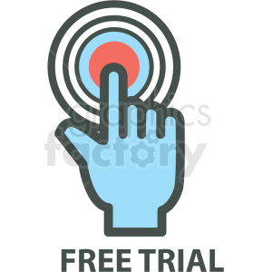 free trial web hosting vector icons clipart. Royalty-free image # 406936