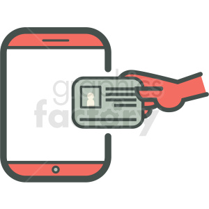 know your customer personal information smart device vector icon clipart. Royalty-free image # 406937