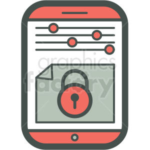 settings locked smart device vector icon clipart. Commercial use image # 406946