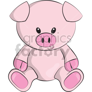 cartoon pig teddy+bear stuffed toy animal