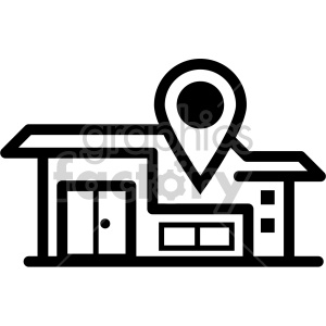black+white technology icons gps directions location marker local
