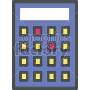 calculator vector flat icons clipart. Royalty-free image # 407086