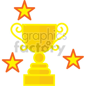 trophy award vector game art icons clipart. Commercial use image # 407103