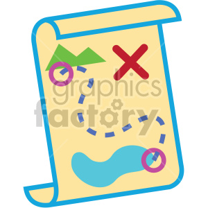treasure map vector game art icons clipart. Commercial use image # 407108