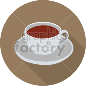 coffee cup on brown circle background flat icons clipart. Royalty-free icon # 407132