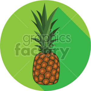 pineapple on circle background flat icons clipart. Royalty-free icon # 407156
