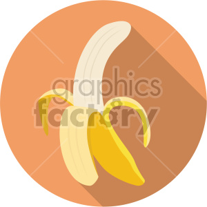 icons banana peeled fruit food