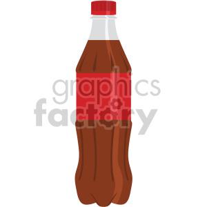 plastic soda bottle with red label flat icons clipart. Royalty-free image # 407184