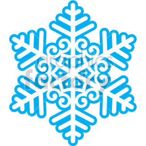 winter snowflake with spirals vector clip art clipart. Commercial use image # 407208