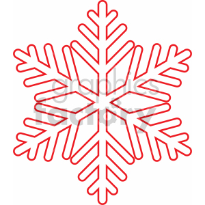 snowflake outline vector svg cut file clipart. Royalty-free image # 407210