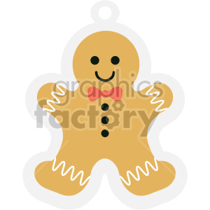 gingerbread man cookie tag clipart clipart. Royalty-free image # 407275