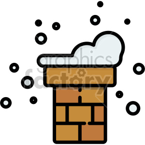 snow covered chimney christmas icon clipart. Commercial use image # 407300