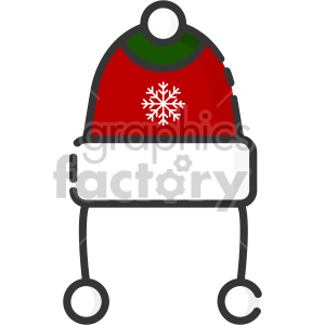 beanie hat christmas icon