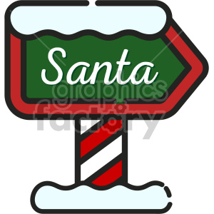 north pole santa sign christmas icon