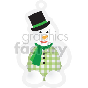christmas snowman tag clipart. Commercial use image # 407360
