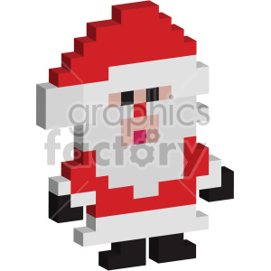 christmas 8-bit pixel cubed santa clipart. Royalty-free image # 407366
