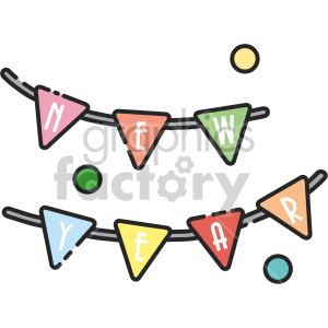 new year banner clipart. Commercial use image # 407429