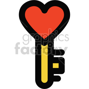 heart key icon for valentines day